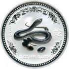 Bild von Lunar Schlange 2001 1oz Silber