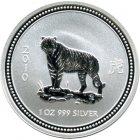 Kleines Bild von Lunar I Tiger 2010 1oz Silber
