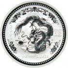 Kleines Bild von Lunar I Drache 2000 2oz Silber