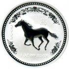 Kleines Bild von Lunar I Pferd 2002 2oz Silber
