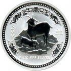Kleines Bild von Lunar I Ziege 2003 2oz Silber