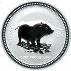Kleines Bild von Lunar I Schwein 2007 2oz Silber