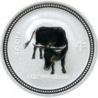 Kleines Bild von Lunar I Ochse 2009 2oz Silber