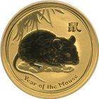 Kleines Bild von Lunar II Maus 2008 1/4oz Gold