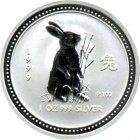 Kleines Bild von Lunar I Hase 1999 1/2oz Silber