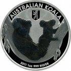 Kleines Bild von Koala 2011 Privy Berliner Bär 1oz Silber