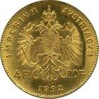 Kleines Bild von 4 Gulden  (4 Florin 10 Franc) Gold