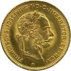 Kleines Bild von 8 Gulden  (8 Florin 20 Franc) Gold
