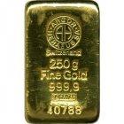 Kleines Bild von 250g Goldbarren Argor-Heraeus Schweiz