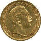 Kleines Bild von 20 Mark Wilhelm II Gold (div. Jahrgänge)