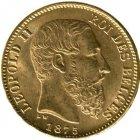 Kleines Bild von Leopold II 20 BFR Gold