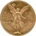 Kleines Bild von 50 Pesos Mexiko Gold