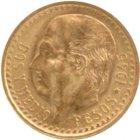 Kleines Bild von 2,5 Pesos Mexiko Gold
