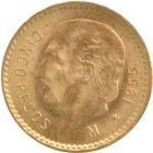 Kleines Bild von 5 Pesos Mexiko Gold