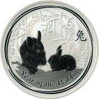 Kleines Bild von Lunar II Hase 2011 1oz Silber