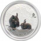 Kleines Bild von Lunar II Hase 2011 1kg Silber