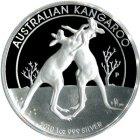 Kleines Bild von Kangaroo 2010 High Relief PP 1oz Silber