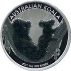 Kleines Bild von Koala 2011 1/2oz Silber