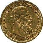 Kleines Bild von 20 Mark Friedrich III 1888 - Jaeger 248
