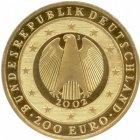 """Kleines Bild von 1oz 200 Euro """"Währungsunion"""" 2002"""