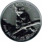Kleines Bild von Maple Leaf Wildlife 2012 Cougar/Puma 1oz Silber