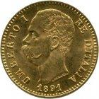 Kleines Bild von Umberto I 20 Lire Gold
