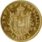 Kleines Bild von Napoleon III 20 Fr. Gold