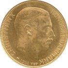 Kleines Bild von 20 Kroner  /  Kronen Gold Christian X