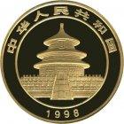 Kleines Bild von Panda 1998 1oz Gold Large Date