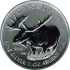 Kleines Bild von Maple Leaf Wildlife 2012 Moose/Elch 1oz Silber