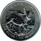 Kleines Bild von Maple Leaf Wildlife 2013 Antilope 1oz Silber