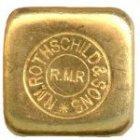 Kleines Bild von 50g Goldbarren Rothschild Großbritannien