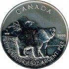 Kleines Bild von Maple Leaf Wildlife 2011 Grizzly 1oz Silber