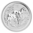 Kleines Bild von Lunar II Pferd 2014 2oz Silber