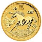 Kleines Bild von Lunar II Pferd 2014 1/20oz Gold