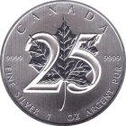 Kleines Bild von Maple Leaf 2013 1oz Silber - Privy 25 Jahre