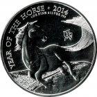 Kleines Bild von Royal Mint Lunar Pferd 2014 1oz Silber