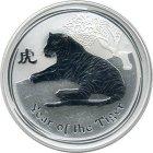 Kleines Bild von Lunar II Tiger 2010 1oz Silber