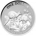 Kleines Bild von Kangaroo 2014 First Sightings 1oz Silber PP