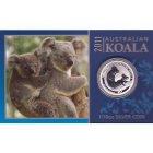 Kleines Bild von Koala 2011 1/10oz Silber