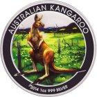 Kleines Bild von WMF Kangaroo 2014 1oz Silber Farbe