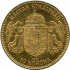 Kleines Bild von 10 Kronen Gold Ungarn