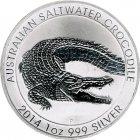Kleines Bild von 1oz Australien Salzwasser Krokodil 2014 Silber