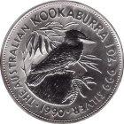 Kleines Bild von Kookaburra 1990 1oz Silber