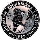 Kleines Bild von Kookaburra 1993 2oz Silber