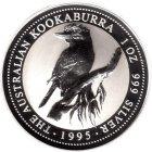 Kleines Bild von Kookaburra 1995 1oz Silber