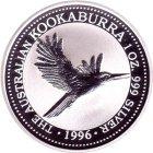 Kleines Bild von Kookaburra 1996 2oz Silber