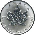 Kleines Bild von Maple Leaf 1991 1oz Silber