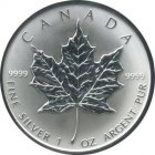 Kleines Bild von Maple Leaf 1994 1oz Silber