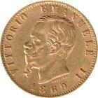 Kleines Bild von Vittorio Emanuele II 20 Lire Gold